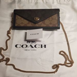 NWOT COACH WALLET ON CHAIN